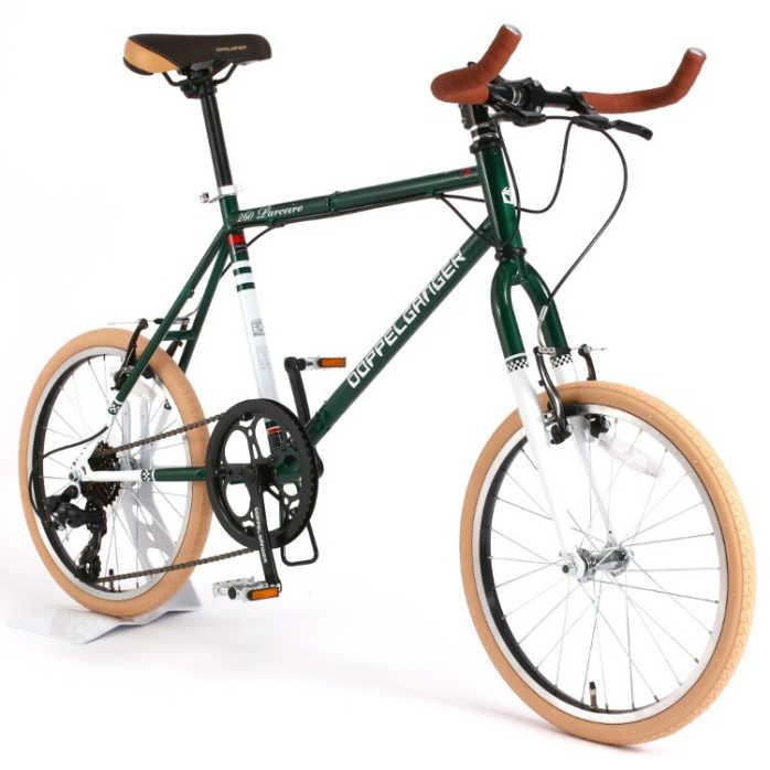 折り畳み自転車ドッぺルギャンガー20インチ折りたたみ自転車7段変速付260-GR(ブリティッシュグリーン)(DOPPELGANGER260-GRParceiro)折畳み自転車【送料無料?メーカー直送?】
