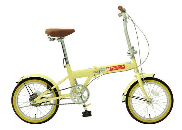 TOPONE (トップワン) 折り畳み自転車 16インチ (アイボリー)(TOPONE FL160-48)【送料無料・メーカー直送・代引不可】 02P03Dec16