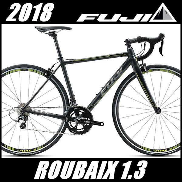 ロードバイク フジ ルーベ 1.3 (マットブラック/イエロー) 2018 FUJI ROUBAIX 1.3(店舗受け取り限定)