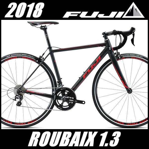 ロードバイク フジ ルーベ 1.3 (マットブラック/レッド) 2018 FUJI ROUBAIX 1.3(店舗受け取り限定)