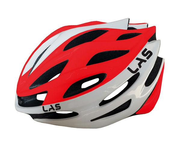 LAS GALAXY サイクリング ヘルメット (ホワイト/レッド) ラス ギャラクシー 自転車