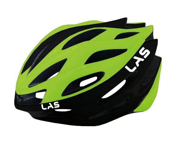 LAS GALAXY サイクリング ヘルメット (ブラック/ライム) ラス ギャラクシー 自転車