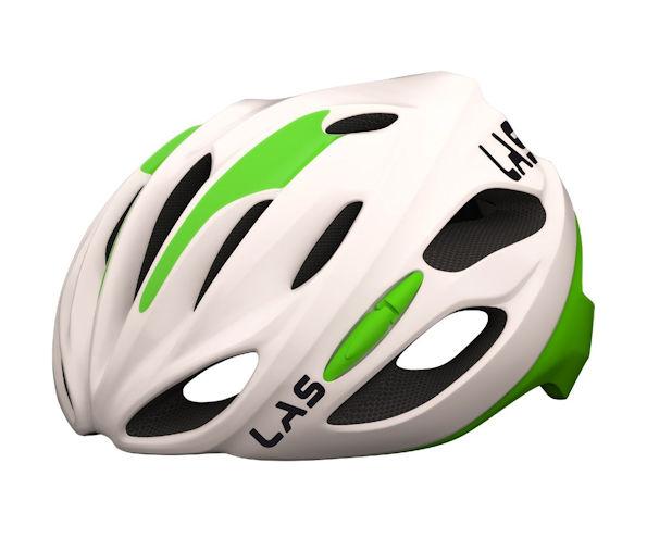 LAS COBALTO サイクリング ヘルメット (ホワイト/グリーン) ラス コバルト 自転車