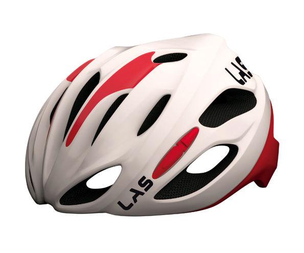 LAS COBALTO サイクリング ヘルメット (ホワイト/レッド) ラス コバルト 自転車