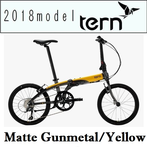 折りたたみ自転車 ターン リンク N8 (マットガンメタル/イエロー) 2018 TERN LINK N8 フォールディングバイク