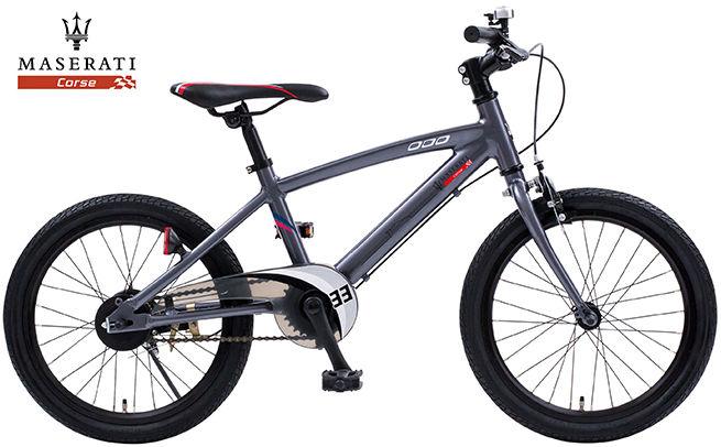 子供用自転車 MASERATI AL-KID'S18 (マセラティグレー) マセラティ AL KID 18 キッズ サイクル