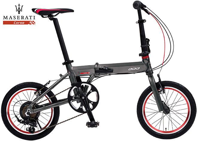 折り畳み自転車 MASERATI AL-FDB167 (マセラティグレー) マセラティ AL FDB 167 フォールディング バイク