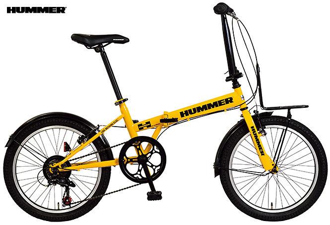折り畳み自転車 HUMMER FDB207 TANK (イエロー) ハマー FDB 207 タンク FOLDING BIKE フォールディングバイク