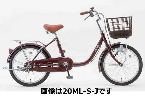 シティサイクル シオノ ディオラ 20オートライト 20ML-S-HD-J (ワインレッド) 2018 SHIONO DIORA 20