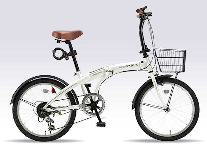 折り畳み自転車 20インチ6段変速付き折りたたみ自転車 マイパラスHCS-01 (ホワイト) (MYPALLAS HCS-01) 折畳み自転車【送料無料・メーカー直送・代引不可】