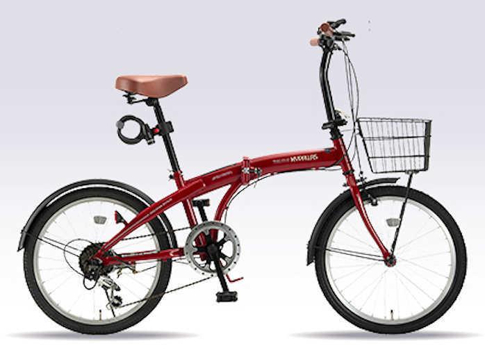 折り畳み自転車 20インチ6段変速付き折りたたみ自転車 マイパラスHCS-01 (レッド) (MYPALLAS HCS-01) 折畳み自転車【送料無料・メーカー直送・代引不可】