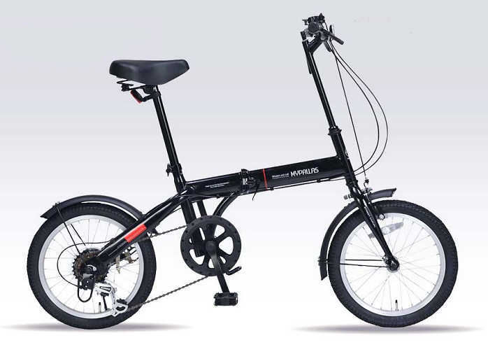 折り畳み自転車 16インチ6段変速付き折りたたみ自転車 マイパラスM-103 (ブラック) (MYPALLAS M-103) 折畳み自転車【送料無料・メーカー直送・代引不可】
