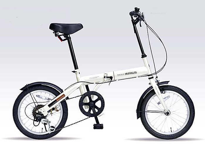 折り畳み自転車 16インチ6段変速付き折りたたみ自転車 マイパラスM-103 (アイボリー) (MYPALLAS M-103) 折畳み自転車【送料無料・メーカー直送・代引不可】