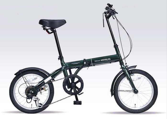 折り畳み自転車 16インチ6段変速付き折りたたみ自転車 マイパラスM-103 (ダークグリーン) (MYPALLAS M-103) 折畳み自転車【送料無料・メーカー直送・代引不可】