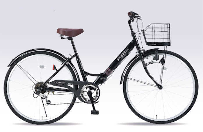折り畳み自転車 26インチ6段変速付き・肉厚チューブ折りたたみ自転車 マイパラスM-507 (マットブラック) (MYPALLAS M-507) 折畳み自転車【送料無料・メーカー直送・代引不可】