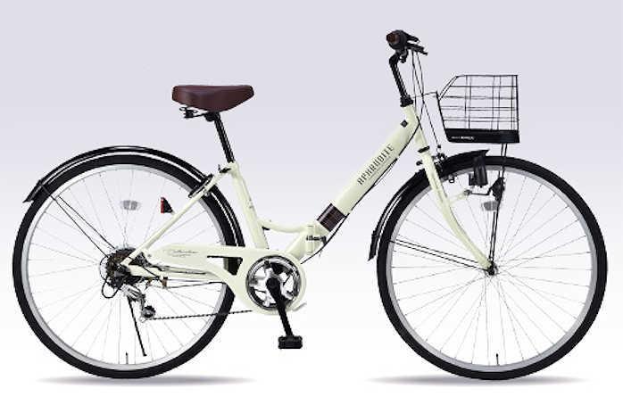 折り畳み自転車 26インチ6段変速付き・肉厚チューブ折りたたみ自転車 マイパラスM-507 (アイボリー) (MYPALLAS M-507) 折畳み自転車【送料無料・メーカー直送・代引不可】