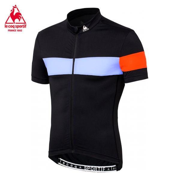 ルコック メンズ サイクル エアロフィットジャージ QC-744171 (ブラック) le coq sportif シャツ | Mサイズ