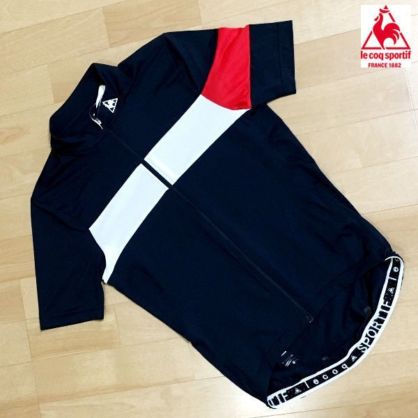 ルコック メンズ サイクル エアロフィットジャージ QC-744171 (ネイビー) le coq sportif シャツ   Lサイズ