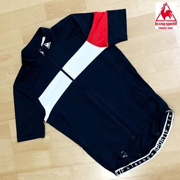 ルコック メンズ サイクル エアロフィットジャージ QC-744171 (ネイビー) le coq sportif シャツ | Mサイズ