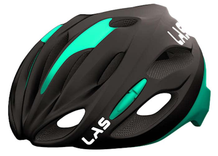LAS COBALTO サイクリング ヘルメット (マットブラック/チェレステ) ラス コバルト 自転車