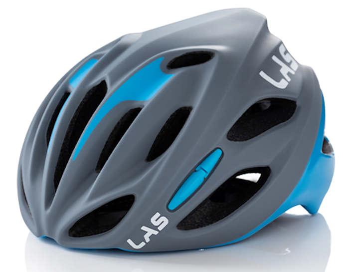 LAS COBALTO サイクリング ヘルメット (マットグレー/ブルー) ラス コバルト 自転車