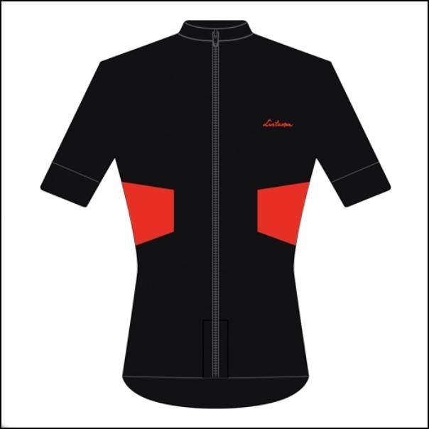 LINTAMAN CYCLING WEAR リンタマン・サイクリングウェア / ADAPT SUMMER JERSEY ブラック/レッド  Sサイズ