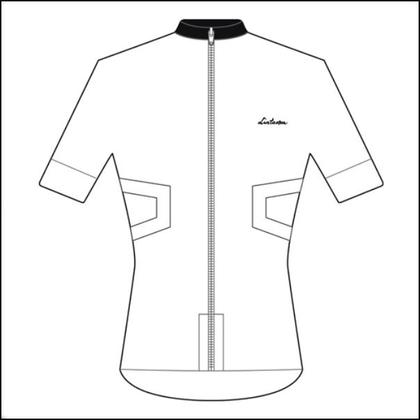 LINTAMAN CYCLING WEAR リンタマン・サイクリングウェア /ADAPT STANDARDJERSEY ホワイト  Lサイズ