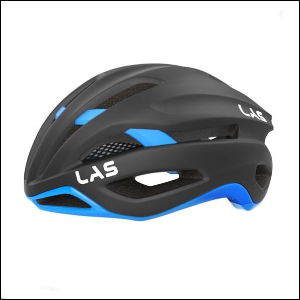LAS VIRTUS サイクリング ヘルメット (マットブラック/ライトブルー) ラス 自転車
