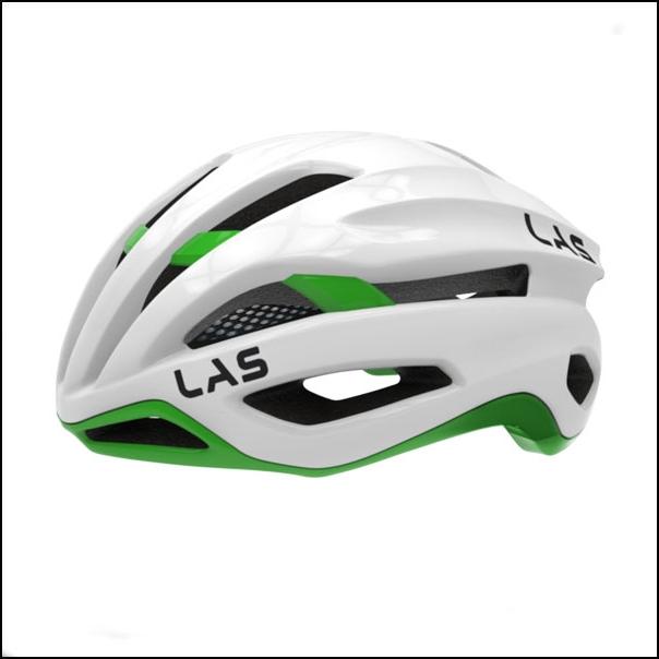 LAS VIRTUS サイクリング ヘルメット (ホワイト/グリーン) ラス 自転車