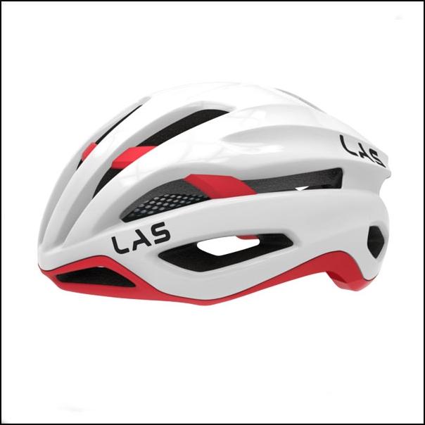 LAS VIRTUS サイクリング ヘルメット (ホワイト/レッド) ラス 自転車