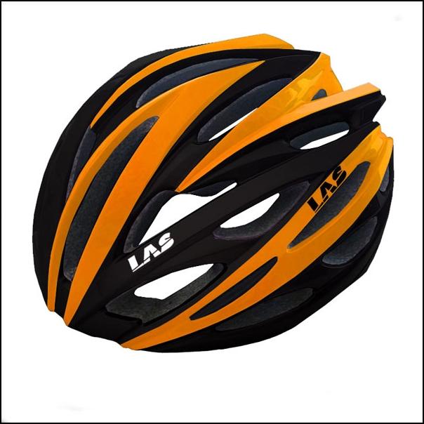 LAS VOYAGER サイクリング ヘルメット (ブラック/オレンジ) ラス ボイジャー 自転車