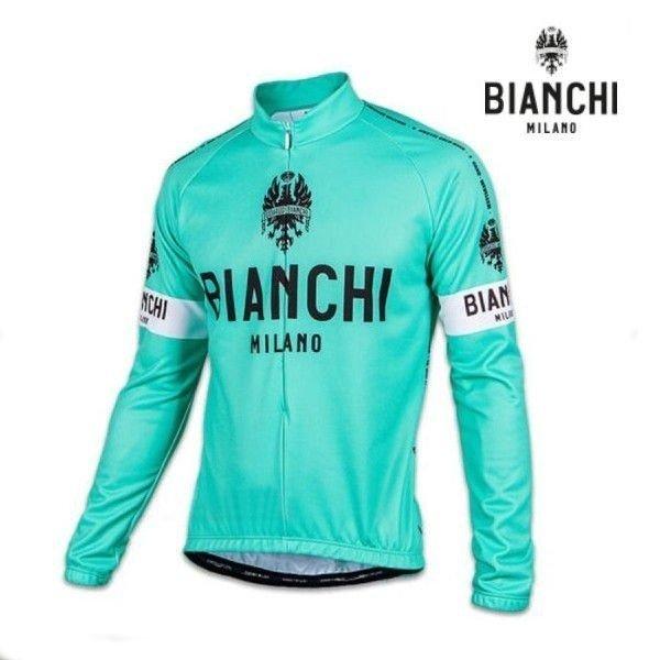 Bianchi MILANO ビアンキミラノ FWジャージ LEGGENDA / チェレステ / サイクルウエア 長袖ジャージ|Lサイズ