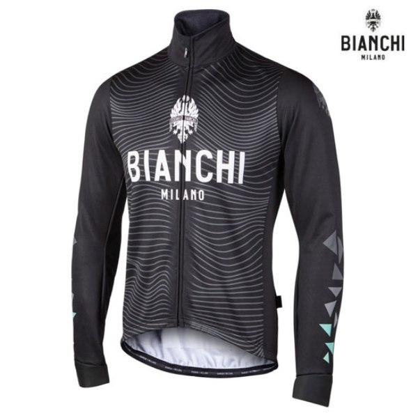 Bianchi MILANO ビアンキミラノ FWジャケット LAGUNDO / ブラック / サイクルウエア/4000|Mサイズ