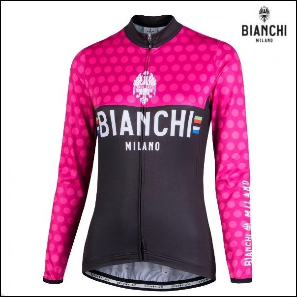 Bianchi MILANO ビアンキミラノ 長袖ジャージ TERMENO / ピンク / レディースサイクルウエア /Mサイズ/ 4700