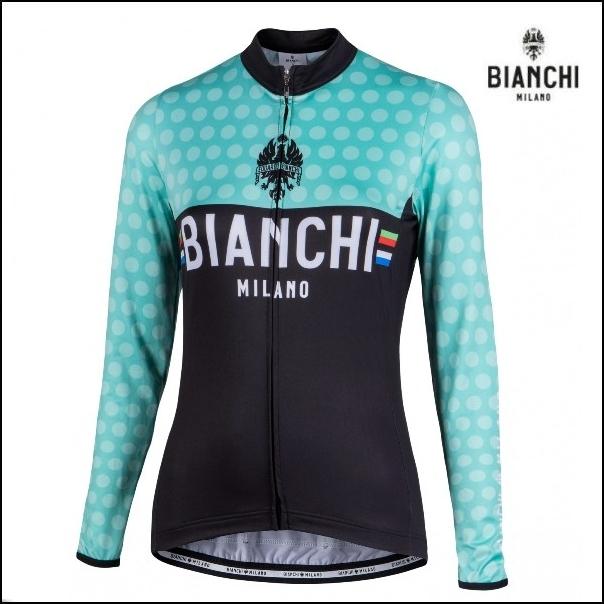 Bianchi MILANO ビアンキミラノ 長袖ジャージ TERMENO / チェレステ / レディースサイクルウエア /Mサイズ/ 4300