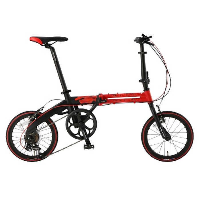 折り畳み自転車 ドッぺルギャンガー 16インチアルミ折りたたみ自転車7段変速付 104-R-RD モーダル・ソウル (DOPPELGANGER 104-R-RD Modal Soul) 折畳み自転車【送料無料・メーカー直送・代引不可】