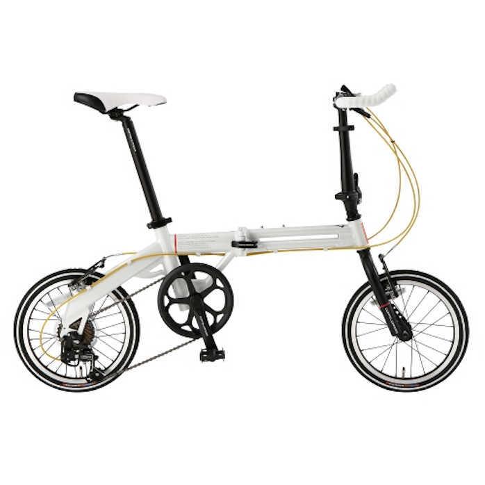 折り畳み自転車 ドッぺルギャンガー 16インチアルミ折りたたみ自転車7段変速付 104-R-WH ライト・ヴェロシティ (DOPPELGANGER 104-R-WH Light Velocity) 折畳み自転車【送料無料・メーカー直送・代引不可】