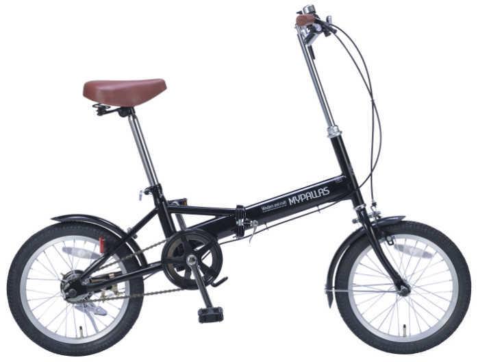 折り畳み自転車 16インチ折りたたみ自転車 マイパラスM-101 (ブラック) (MYPALLAS M-101) 折畳み自転車