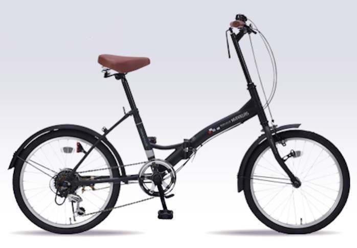折り畳み自転車 20インチ6段変速付き折りたたみ自転車 マイパラスM-205(マットブラック)(MYPALLAS M-205) 折畳み自転車【送料無料・メーカー直送・代引不可】