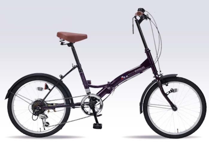 折り畳み自転車 20インチ6段変速付き折りたたみ自転車 マイパラスM-205(ディープパープル)(MYPALLAS M-205) 折畳み自転車【送料無料・メーカー直送・代引不可】