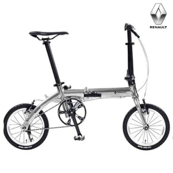折り畳み自転車 RENAULT (ルノー)PLATINUM LIGHT6  14インチ コンパクト折りたたみバイク メタリックシルバー ルノー(AL-FDB140) ルノー