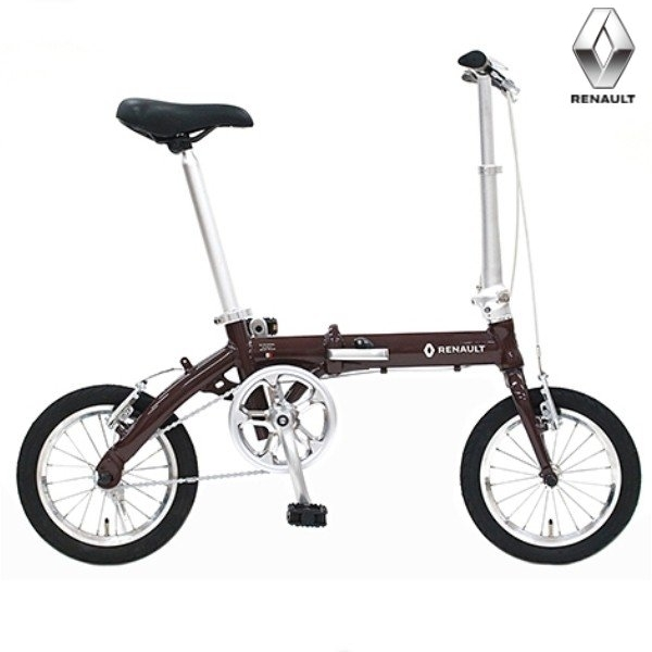 折り畳み自転車 RENAULT ULTRALIGHT8 14インチ AL折りたたみバイク ブラウン ルノー