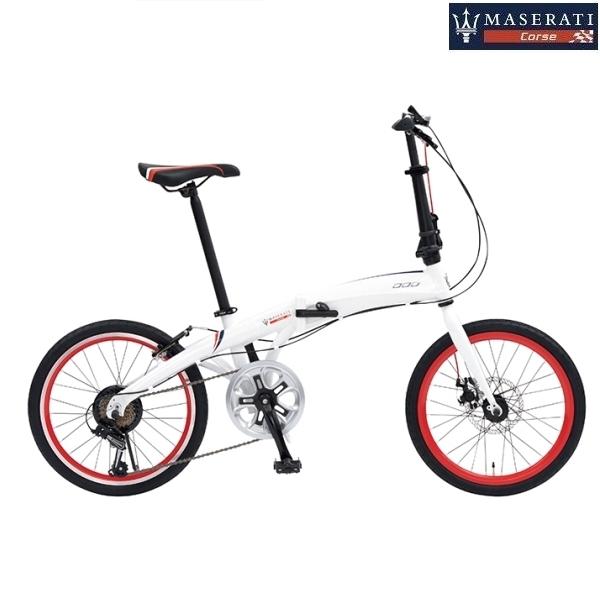 折り畳み自転車 MASERATI AL-FDB207D (ホワイト) マセラティ AL FDB 207D フォールディング バイク
