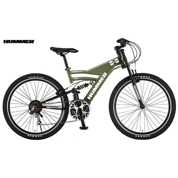 マウンテンバイク HUMMER DH2618-E (マットグリーン) ハマー DH 2618 E MOUNTAIN BIKE