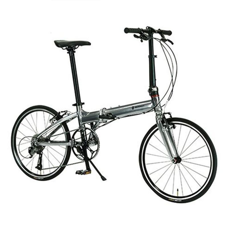 <title>軽量 8.9kg アルミ製 折畳み自転車 軽さがウリです 折り畳み自転車 RENAULT ルノー PLATINUM MACH8 プラチナマッハ8 在庫あり 20インチ 折りたたみバイク マッハシルバー</title>