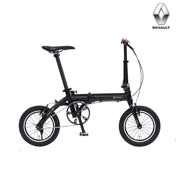 折り畳み自転車 RENAULT ULTRA LIGHT7F 14インチ AL折りたたみバイク ブラック ルノー(AL-FDB140) ウルトラライト7エフ