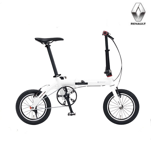 折り畳み自転車 RENAULT ULTRA LIGHT7F 14インチ AL折りたたみバイク ホワイト ルノー(AL-FDB140) ウルトラライト7エフ