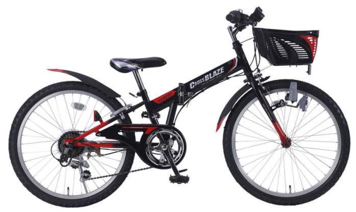 折り畳み自転車 子供用MTB 22インチ6段変速 CIデッキ付 (ブラック)マイパラスM-822F (MYPALLAS M-822F) 子ども用自転車【送料無料・メーカー直送・代引不可】