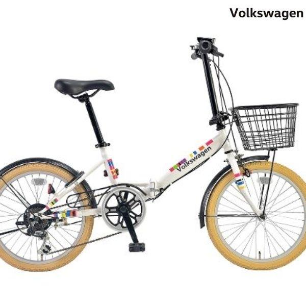 折りたたみ自転車 Volkswagen (フォルクスワーゲン) VW-206G Beetle/ WHITE