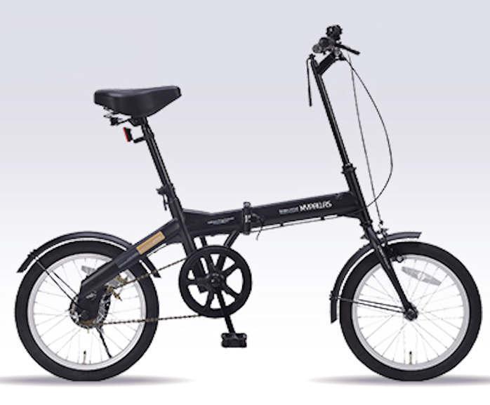 折り畳み自転車 16インチ折りたたみ自転車 マイパラス M-100 (ブラック)(MYPALLAS M-100) 折畳み自転車【送料無料・メーカー直送・代引不可】